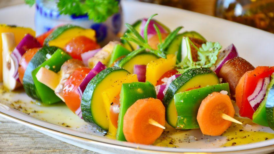 Vegan abnehmen - Gemüsespieße