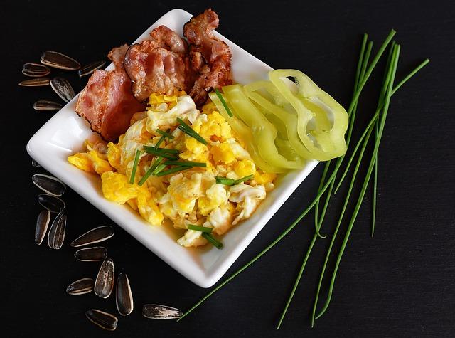 Atkins-Diät - Eier und Schinken