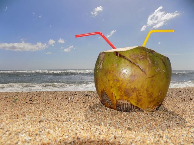 Abnehmen mit Kokosöl - Kokoswasser