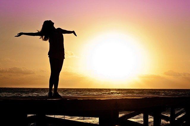 Durch Meditation abnehmen - Sonnenaufgang